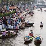 空帕敦坤卡盛护城河水上市场 (Klong Phadung Krung Kasem Floating Market)
